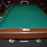 Vintage Brunswick Gold Crown Pool Table 9Ft