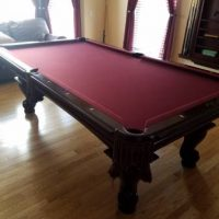 8' American Heritage Pool Table And Accessories